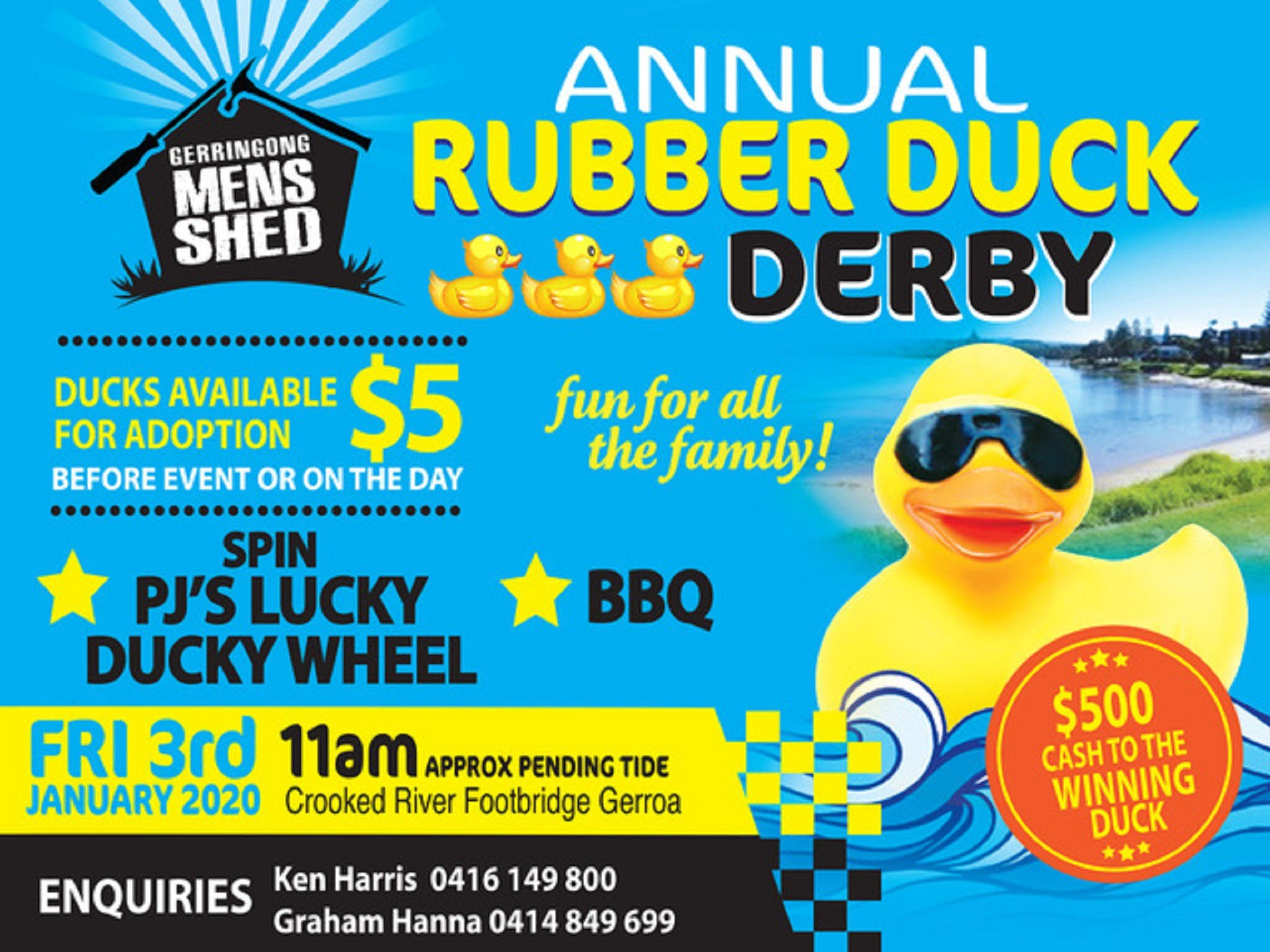 Gerringong Mens Shed Annual Duck Derby - tourismnoosa.com